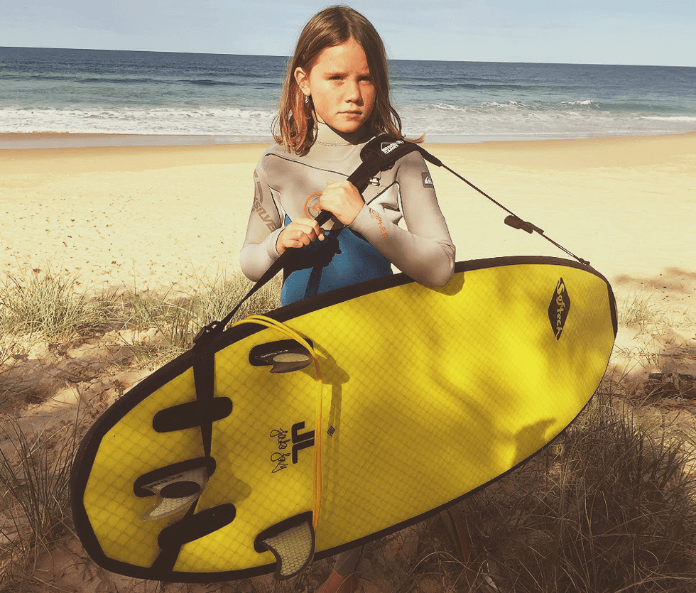 Kids surfboard carry strap